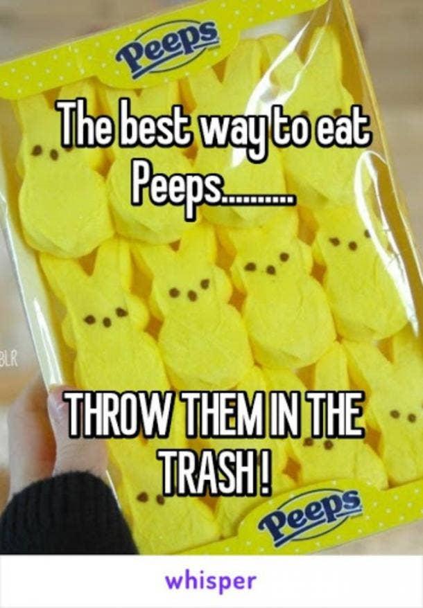 easter memes trash peeps