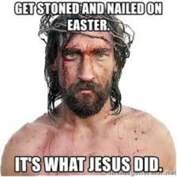 easter memes stoned and nailed