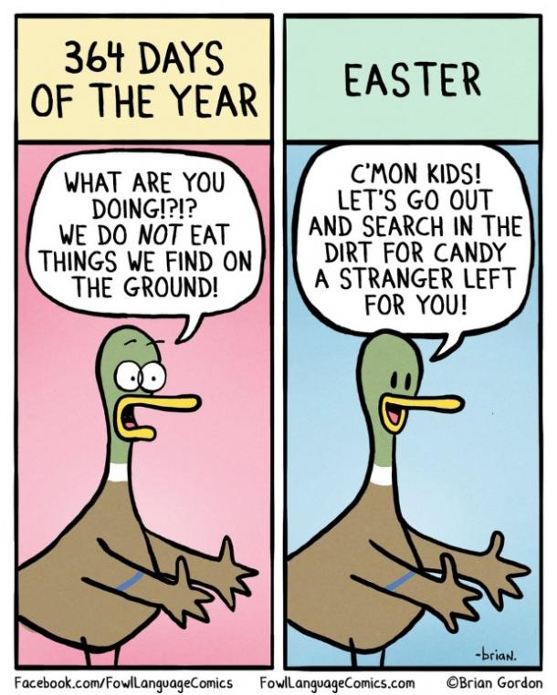 easter memes candy from strangers