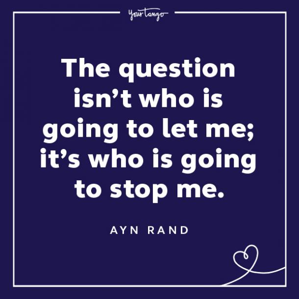Ayn Rand words of encouragement quotes