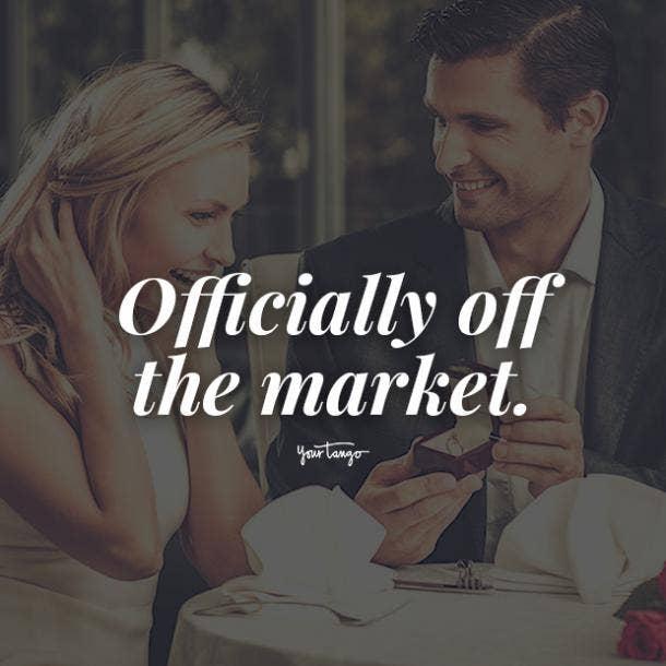 engagement announcement captions