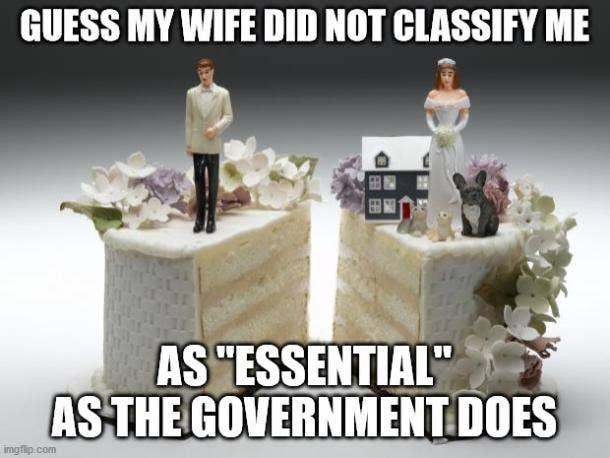 essential divorce meme
