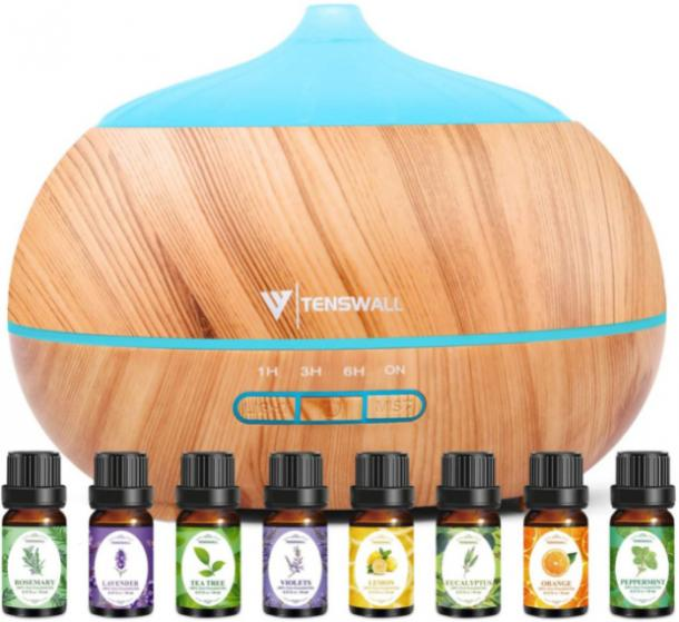 Essential Oil Diffuser with 8 Aromatherapy Oils mothers day gift for girlfriend