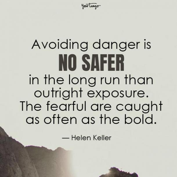 helen keller fear quotes