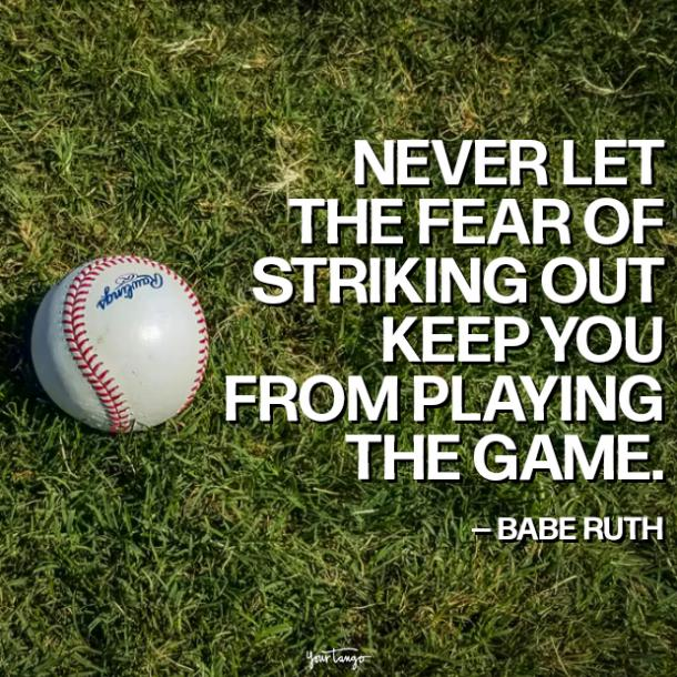 babe ruth fear quotes