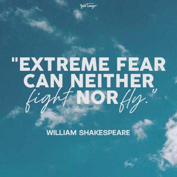 william shakespeare fear quotes