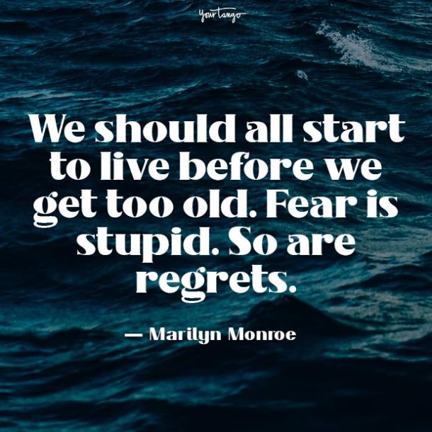 marilyn monroe fear quotes