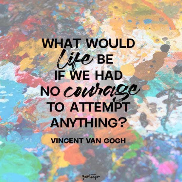 vincent van gogh fear quotes