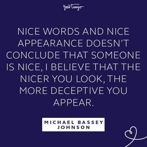 Michael Bassey Johnson fake people quotes