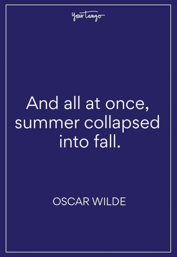 Oscar Wilde Fall Quote