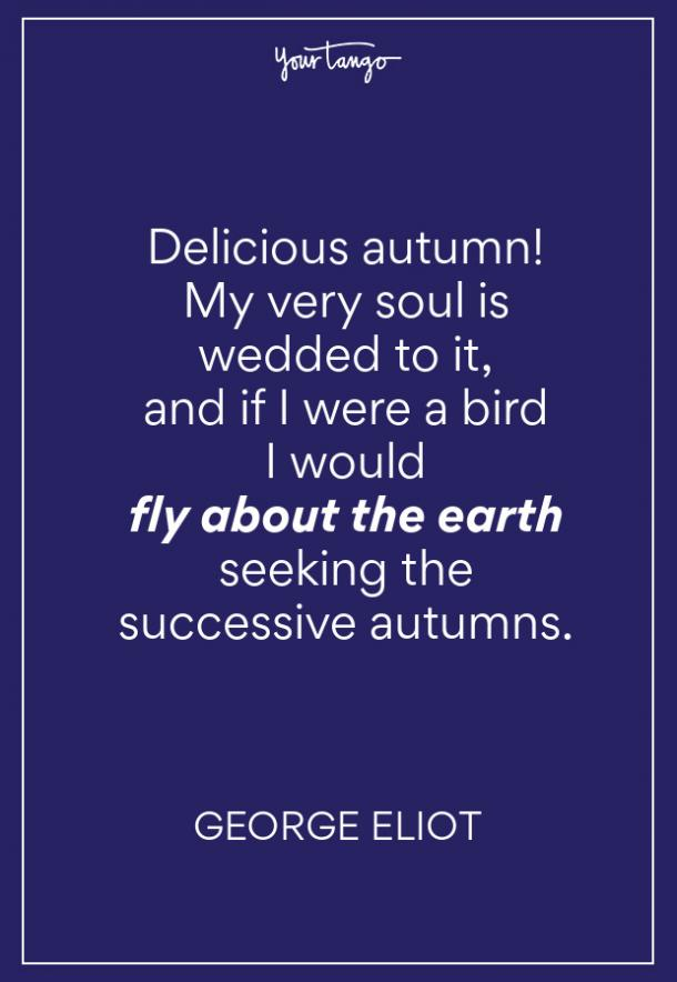 George Eliot Fall Quote