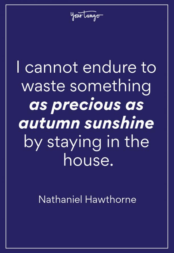 Nathaniel Hawthorne Fall Quote