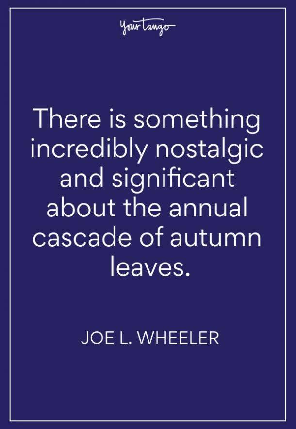 Joe L Wheeler Fall Quote