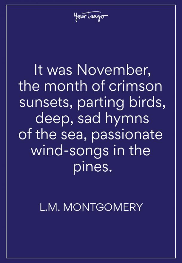 LM Montgomery Fall Quote