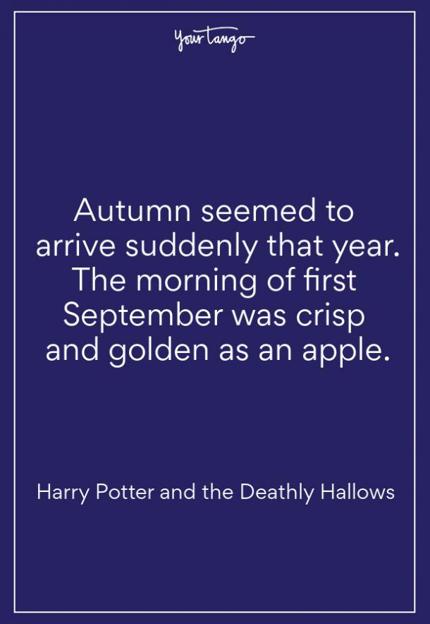 Harry Potter Fall Quote