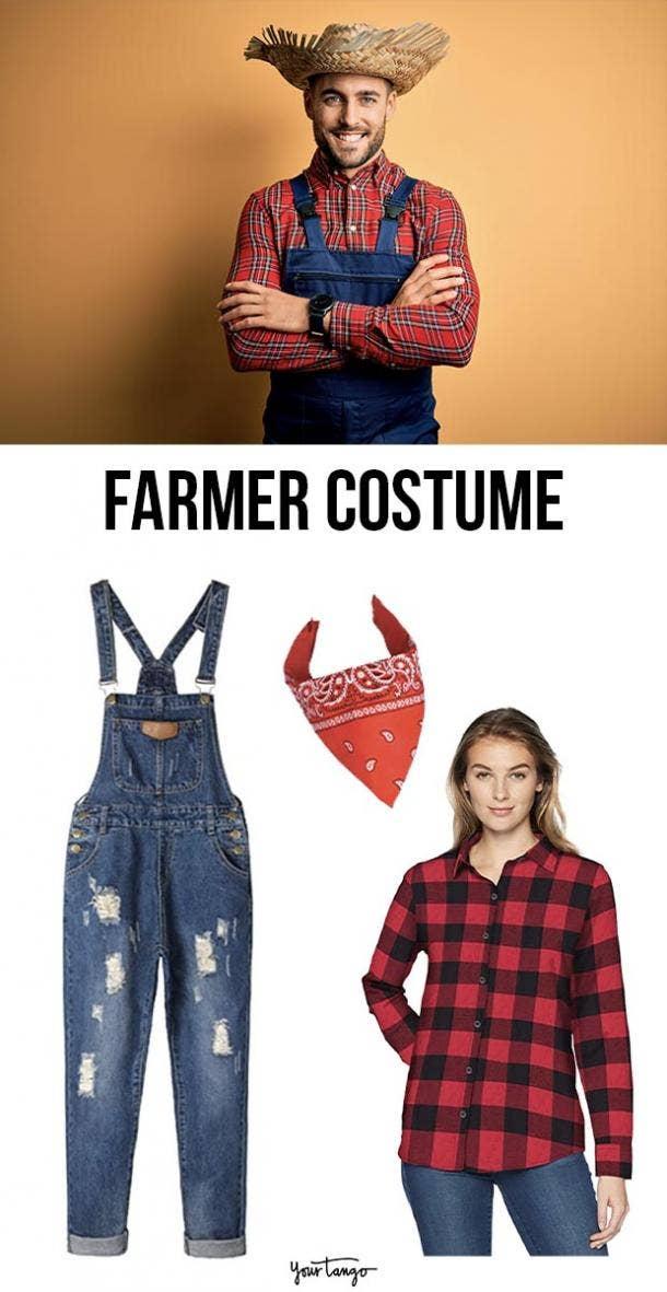 farmer last minute halloween costumes