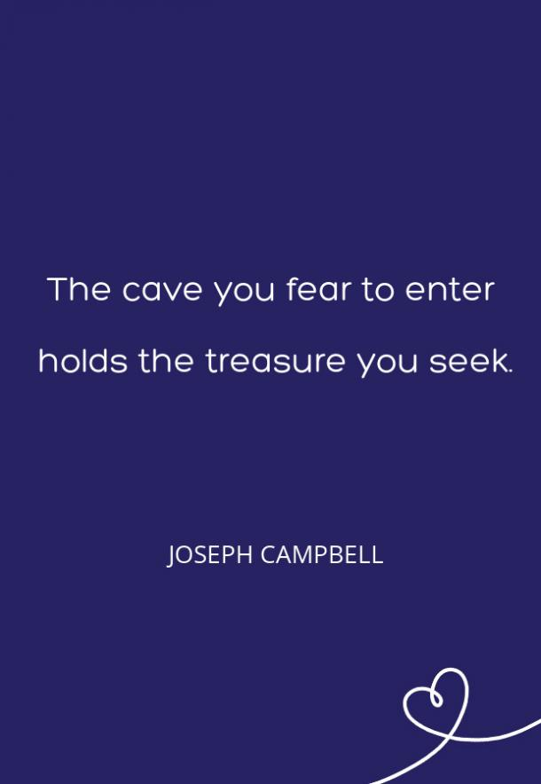 Joseph Campbell Fear Quote