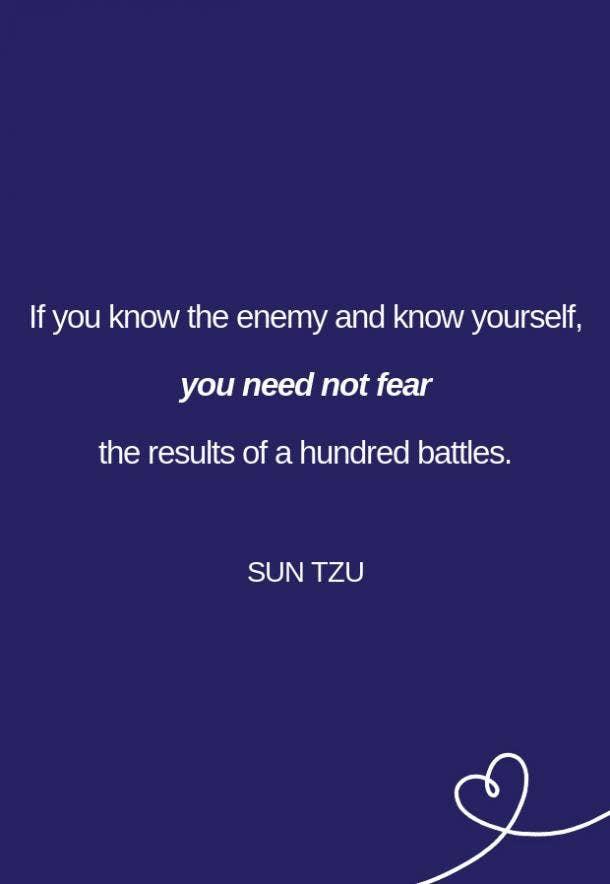 Sun Tzu Fear Quote