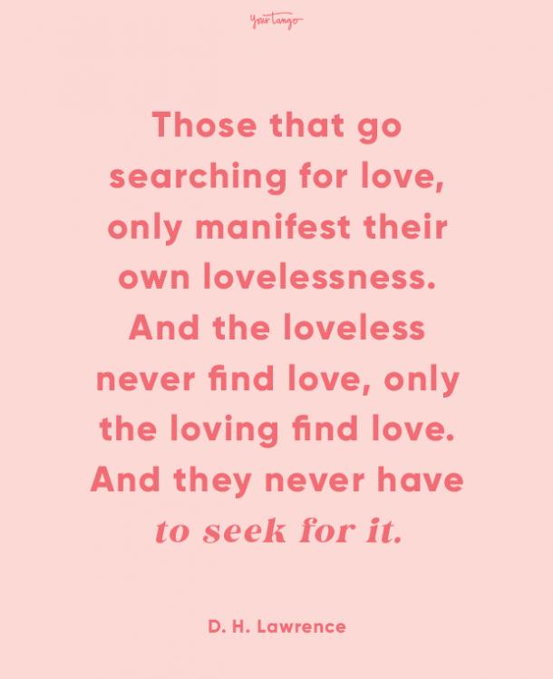d h lawrence finding love quotes