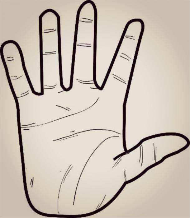 fire hand shape palm reading