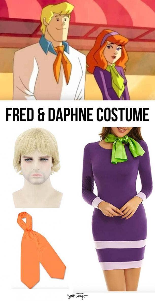 "Classic Fred Jones & Daphne Blake ""Scooby-Doo"" Couple Costume"