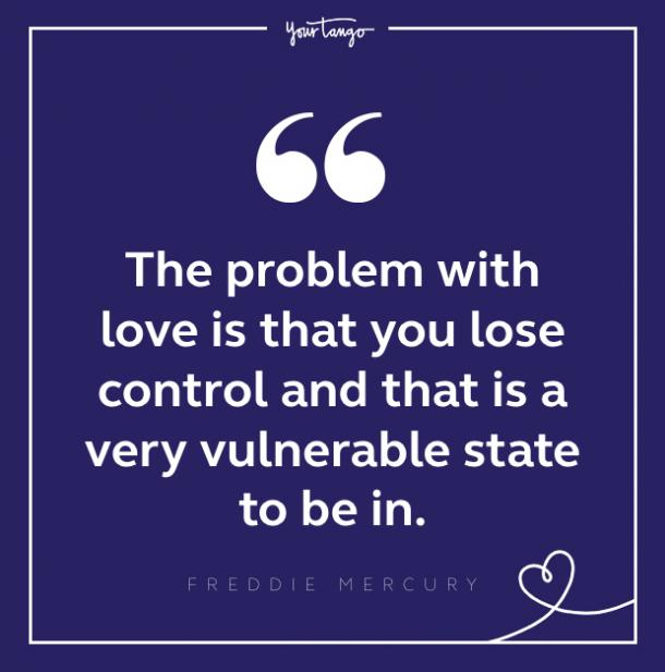 Freddie Mercury quote about love
