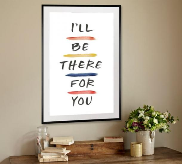 'I'll Be There For You' Framed Print from 'Friends'