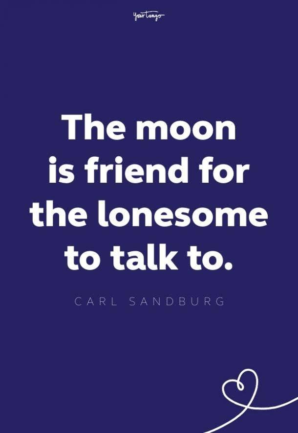 carl sandburg moon quote