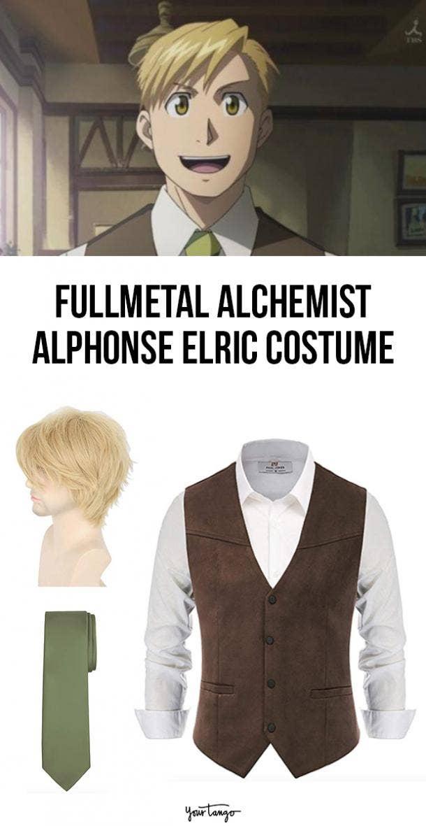 Alphonse Al Elric Human Form Fullmetal Alchemist Costume