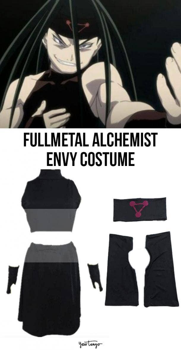 Envy Fullmetal Alchemist Black Halloween Costume