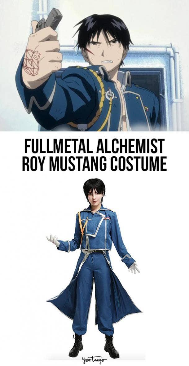 Roy Mustang Blue Colonel Fullmetal Alchemist Costume