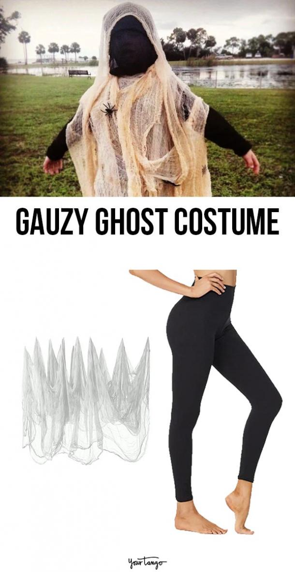 gauzy ghost last minute halloween costumes