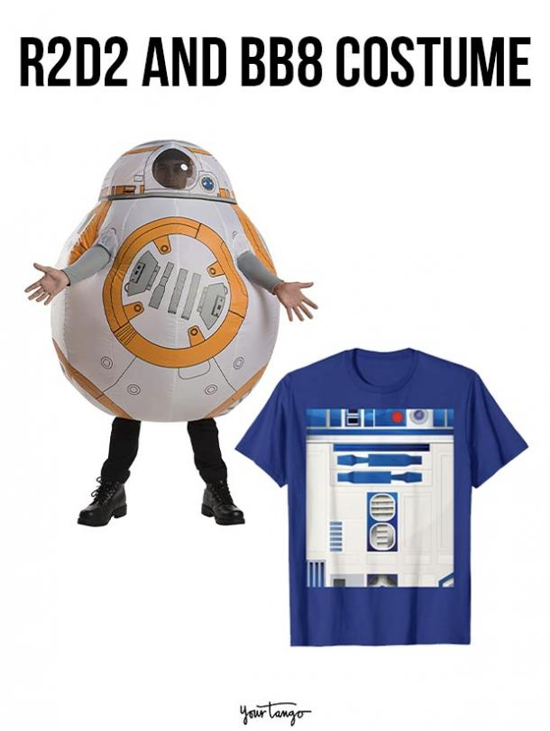 gay couple halloween costumes R2D2 and BB8