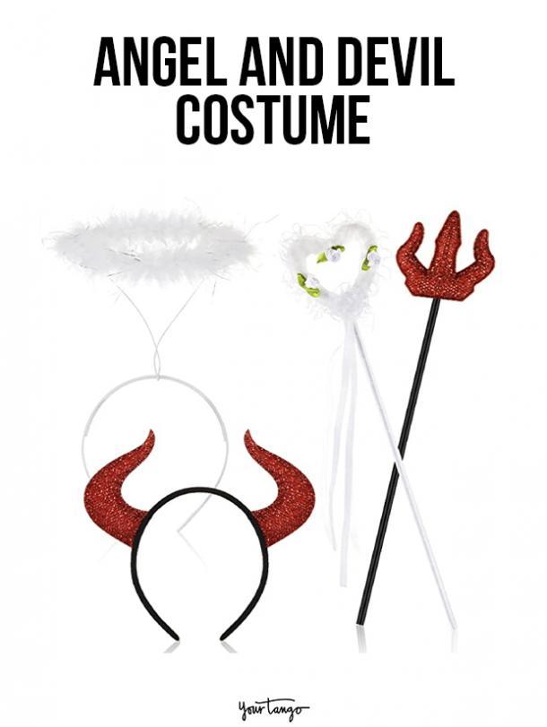 gay couple halloween costumes Angel and Devil