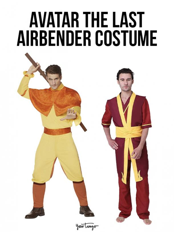 gay couple halloween costumes Aang and Zuko