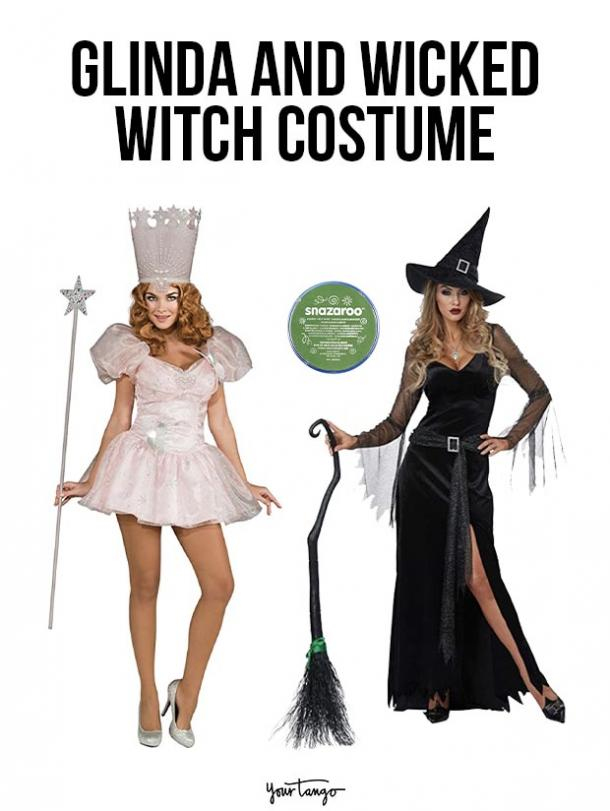 gay couple halloween costumes Glinda The Good Witch and Wicked Witch of the West