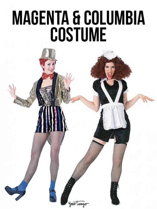 gay couple halloween costumes Magenta and Columbia
