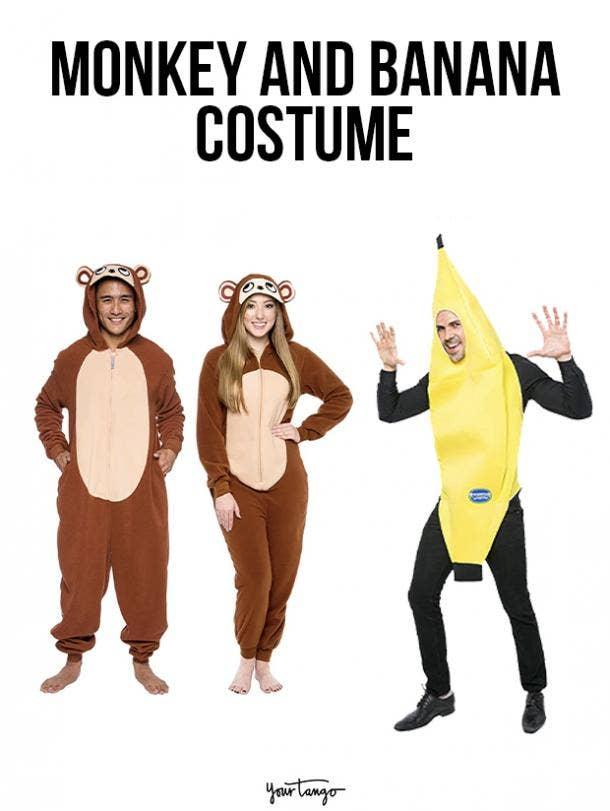 gay couple halloween costumes Monkey and Banana