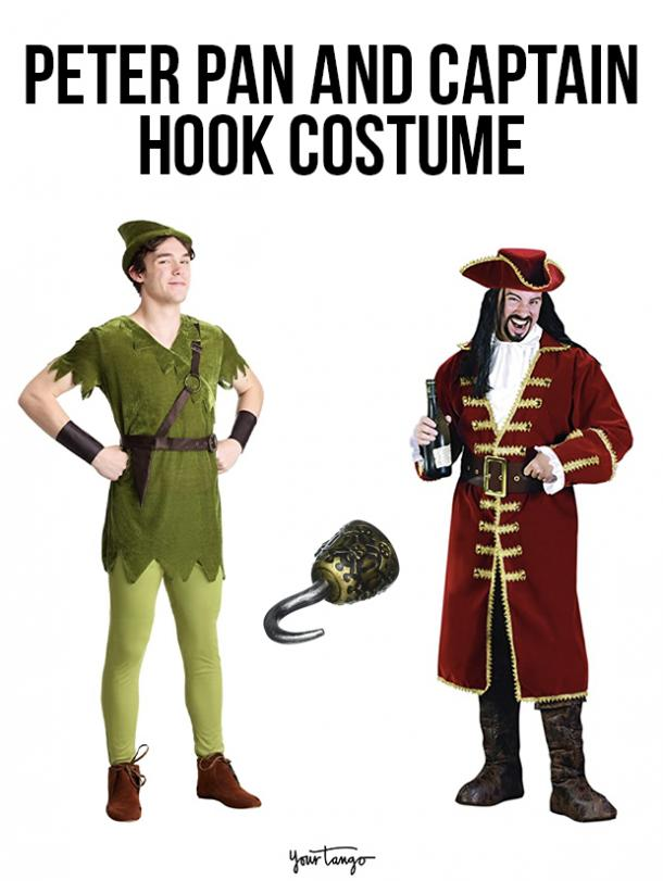 gay couple halloween costumes Peter Pan and Captain Hook