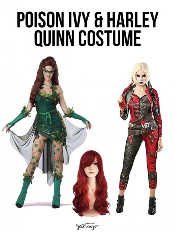 gay couple halloween costumes Poison Ivy and Harley Quinn
