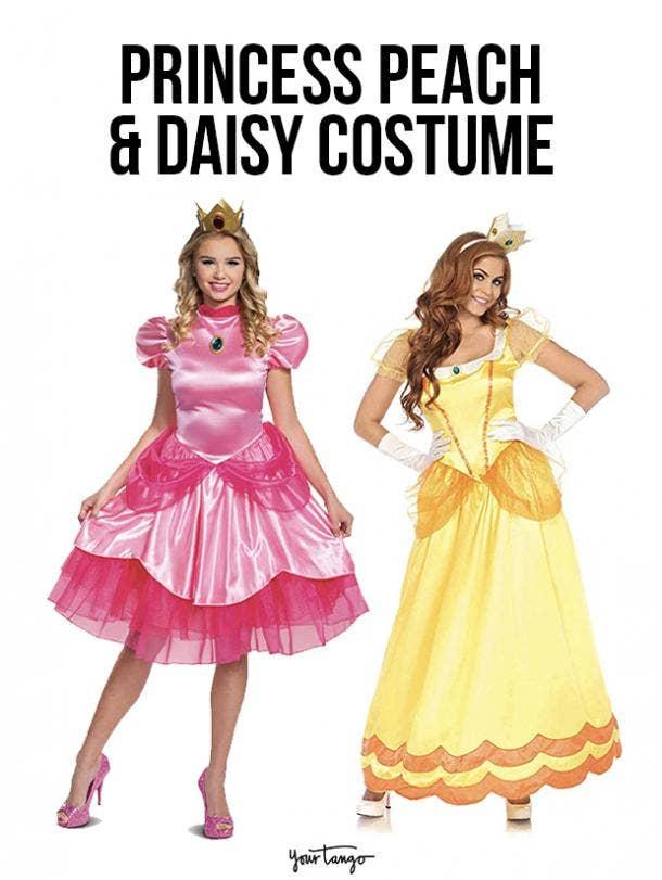 gay couple halloween costumes Princess Peach and Princess Daisy