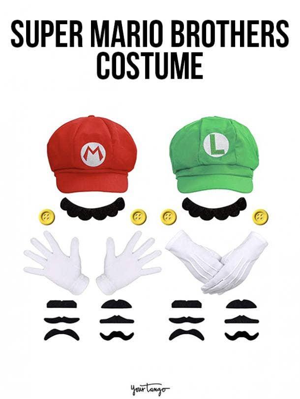 gay couple halloween costumes Mario and Luigi