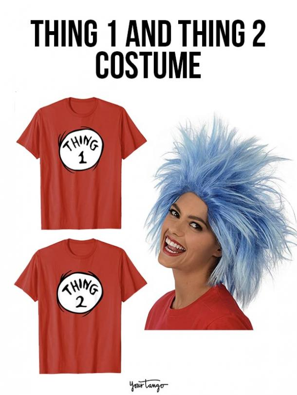 gay couple halloween costumes Thing 1 and Thing 2