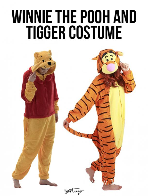gay couple halloween costumes Winnie the Pooh and Tigger