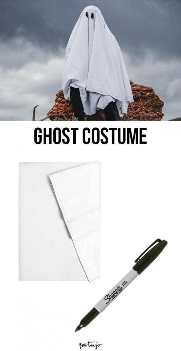 ghost last minute halloween costumes