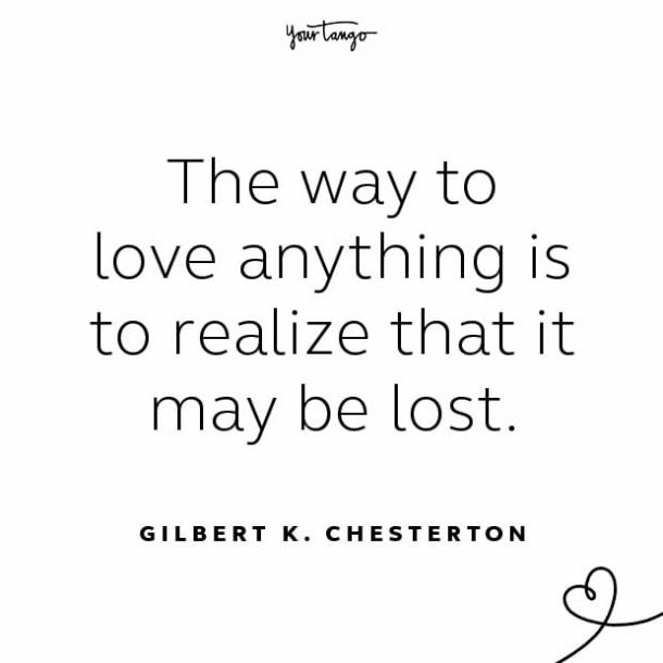 Gilbert K. Chesterton stay together quote