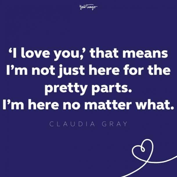 claudia gray girlfriend quote