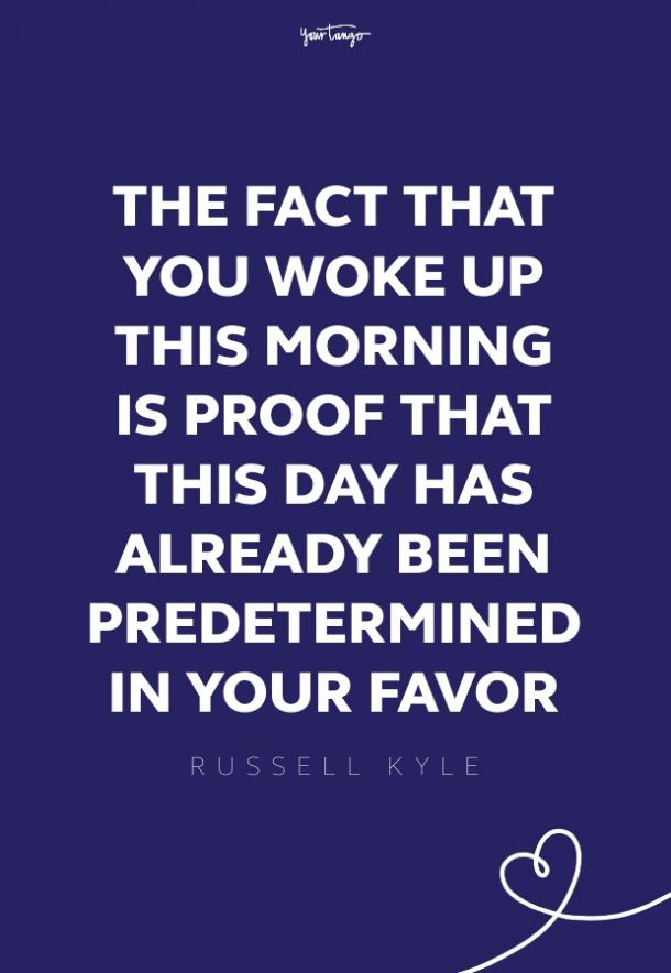 Russell Kyle good morning quotes