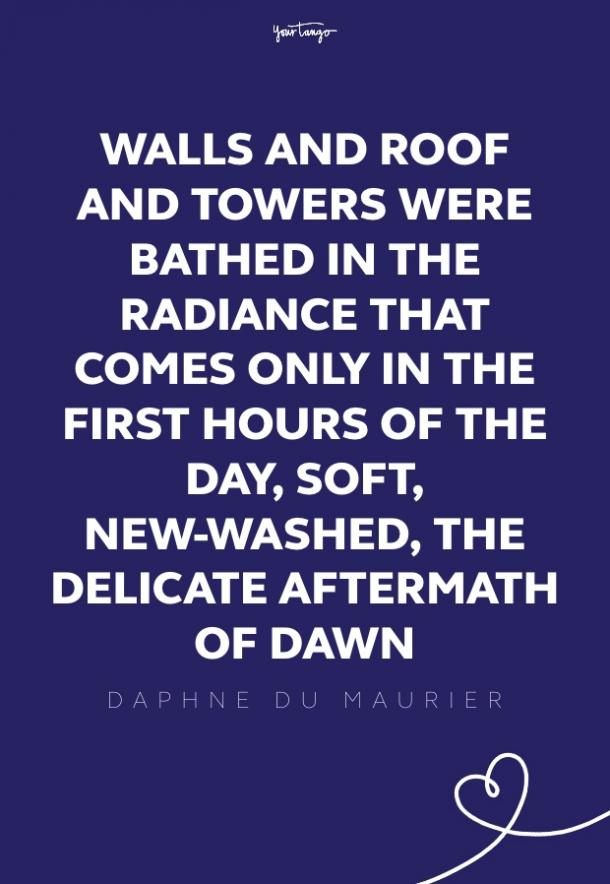 Daphne Du Maurier good morning quotes