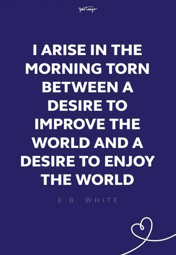 E.B. White good morning quotes